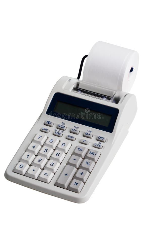 Elektronische drukcalculator stock afbeelding
