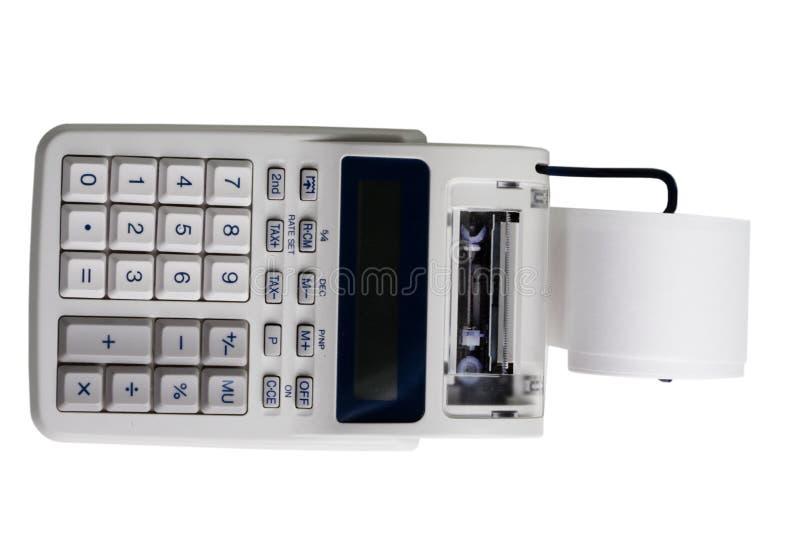 Elektronische drukcalculator stock fotografie