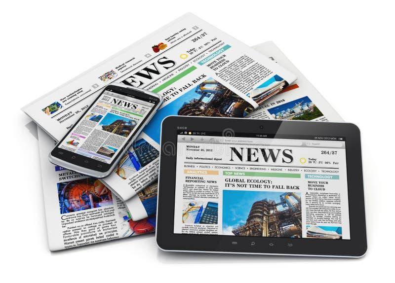 Elektronische en document media concept stock illustratie