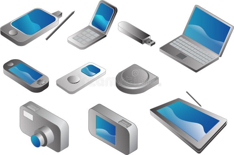 Elektronische gadgets royalty-vrije illustratie