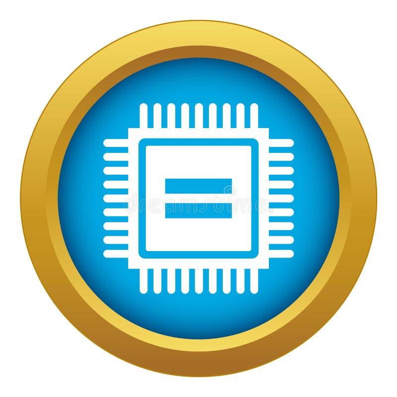 Elektronische geïsoleerde het pictogram blauwe vector van de kringsraad royalty-vrije illustratie