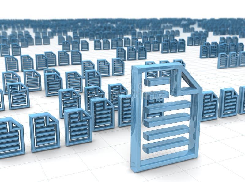 Elektronische gegevens en het ontvangen concept die opslaan vector illustratie