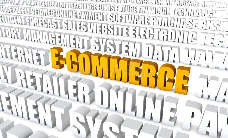 Elektronische handel vector illustratie