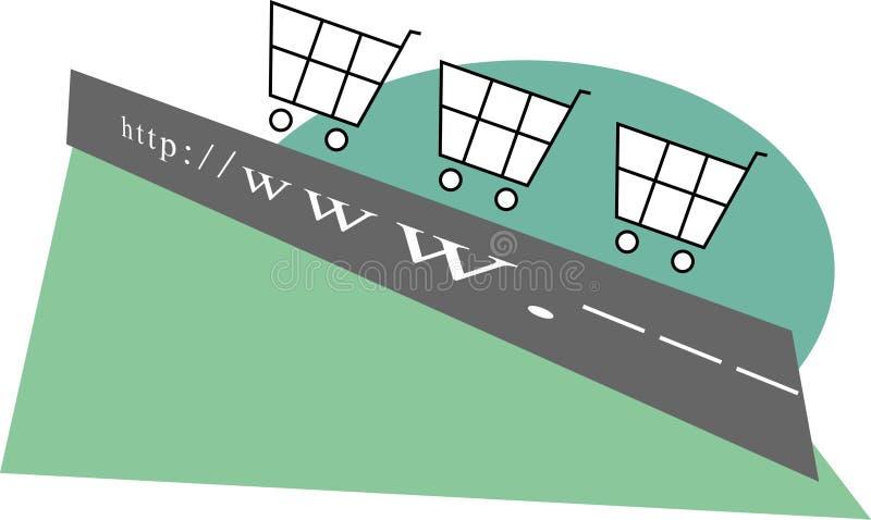 Elektronische handel royalty-vrije illustratie