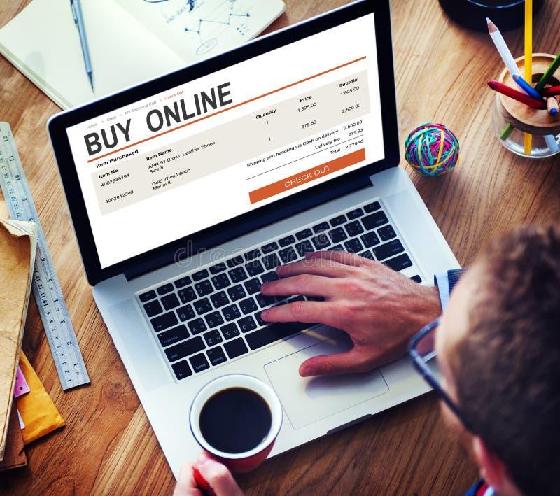 Elektronische handel het Online het Winkelen Concept van de Websitetechnologie royalty-vrije stock fotografie
