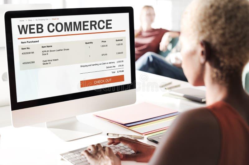Elektronische handel het Online het Winkelen Concept van de Websitetechnologie royalty-vrije stock afbeelding