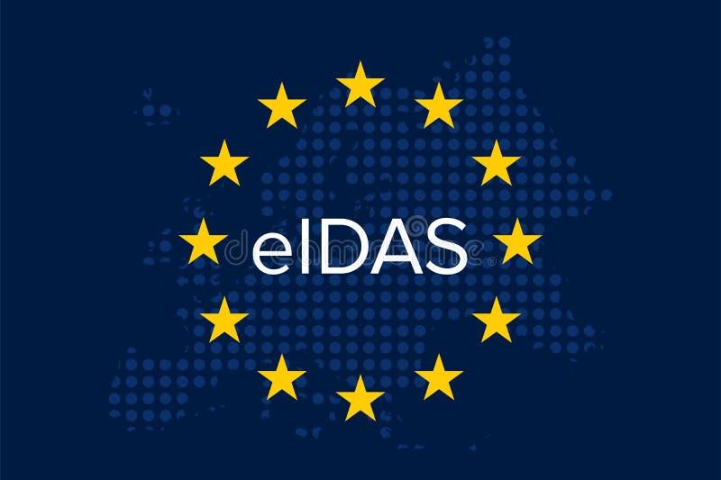 Elektronische identificatie, authentificatie en de vertrouwensdiensten - EIDAS royalty-vrije illustratie