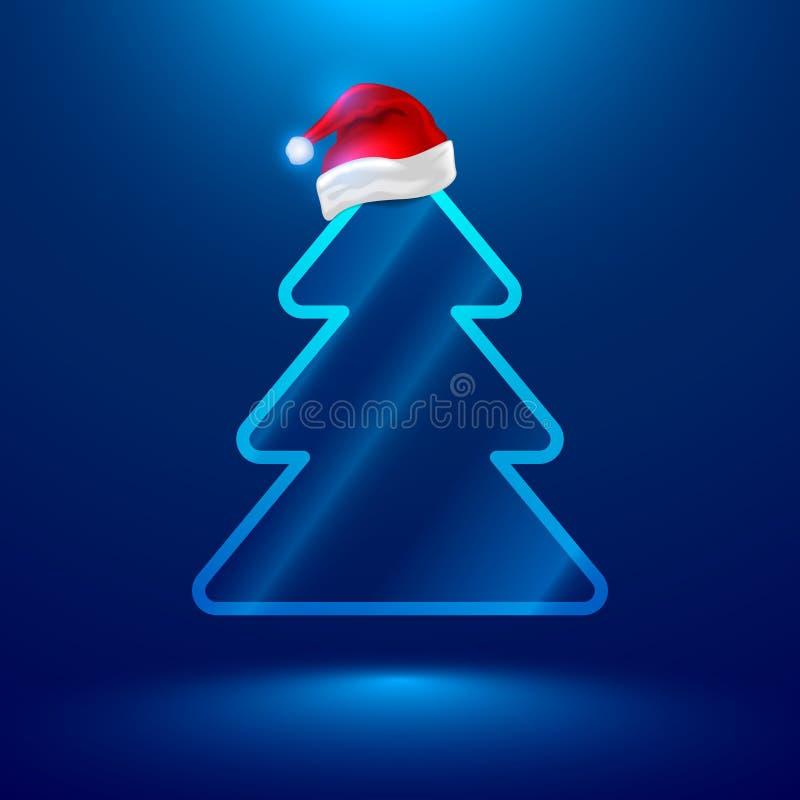 Elektronische kerstboomtechnologie stock illustratie