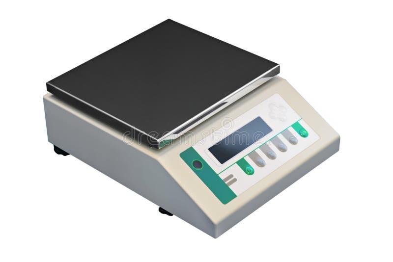 Elektronische laboratoriumschalen stock afbeelding