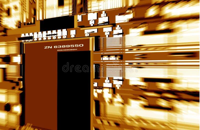 Elektronische Leiterplatte stock abbildung