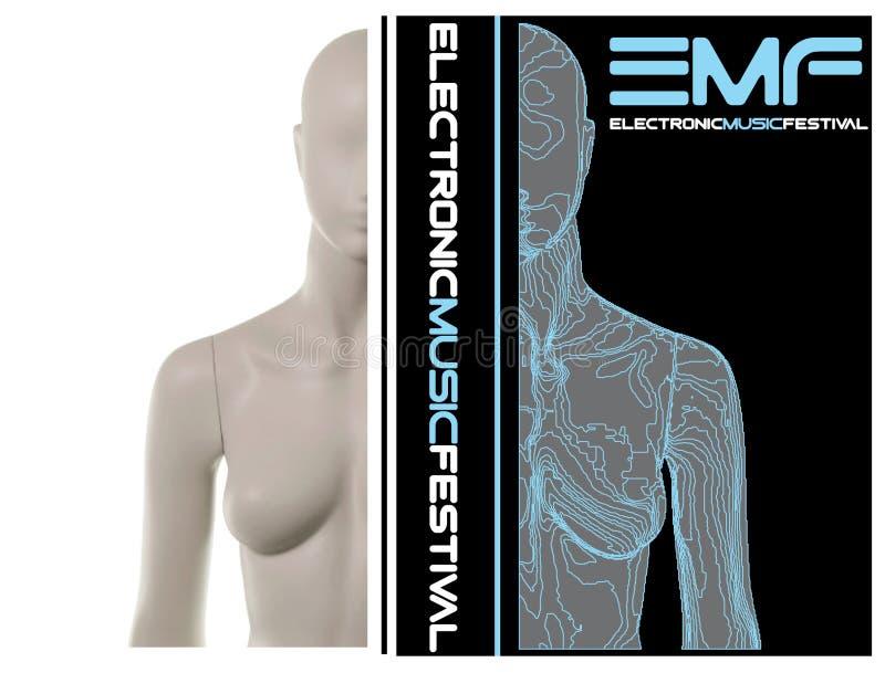 Elektronische Musik-Festival stockfotografie