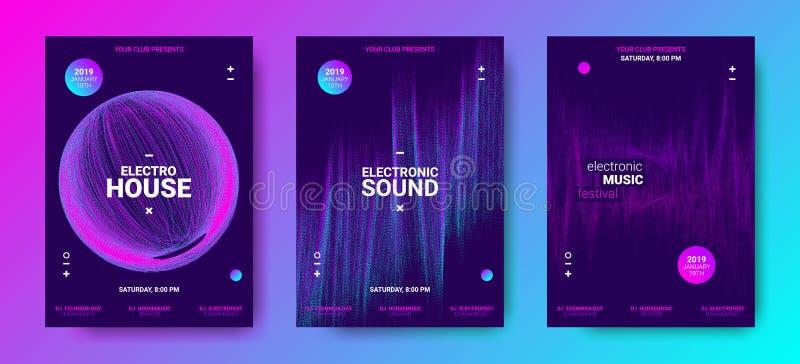 Elektronische Musik-Poster mit solidem Umfang lizenzfreie abbildung
