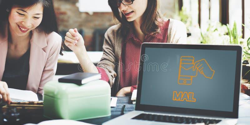 Elektronische Post-Technologie-E-Mail-Grafik-Konzept lizenzfreie stockbilder