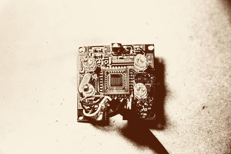 Elektronische sensor royalty-vrije stock foto's