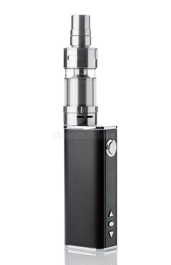 Elektronische sigaret die op wit wordt geïsoleerdi stock afbeelding