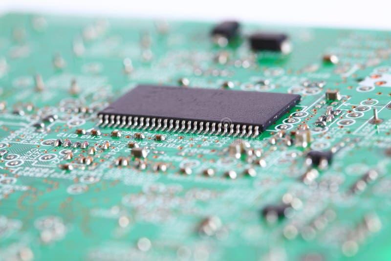 Elektronische spaander aan boord stock afbeeldingen