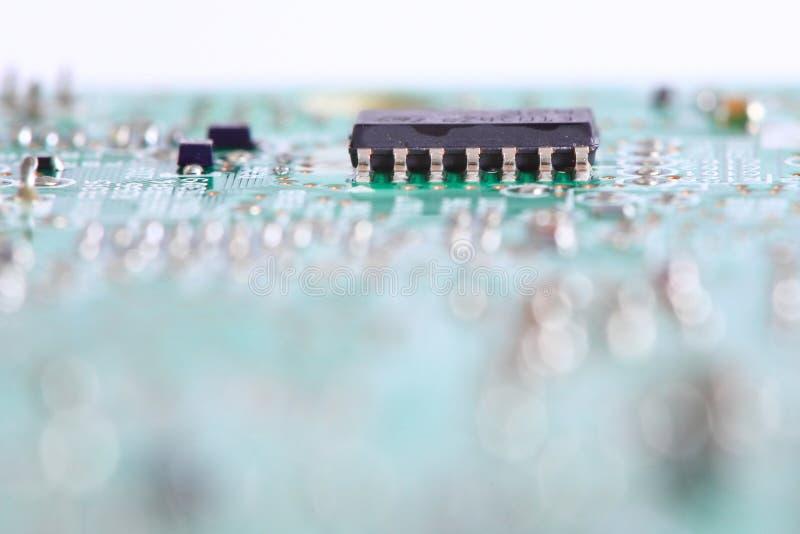 Elektronische spaander aan boord stock foto's