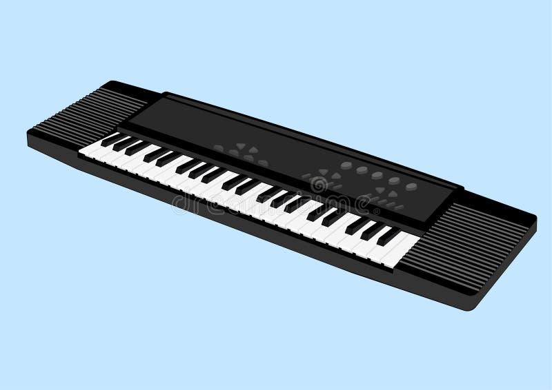 Elektronische Tastatur 3 stock abbildung