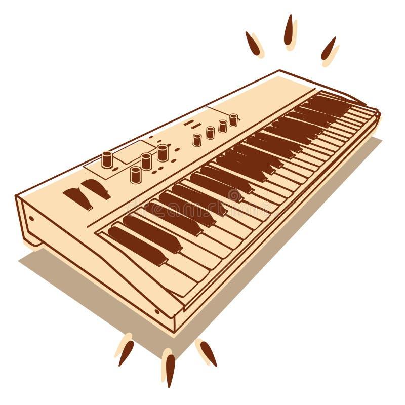 Elektronische Tastatur stock abbildung