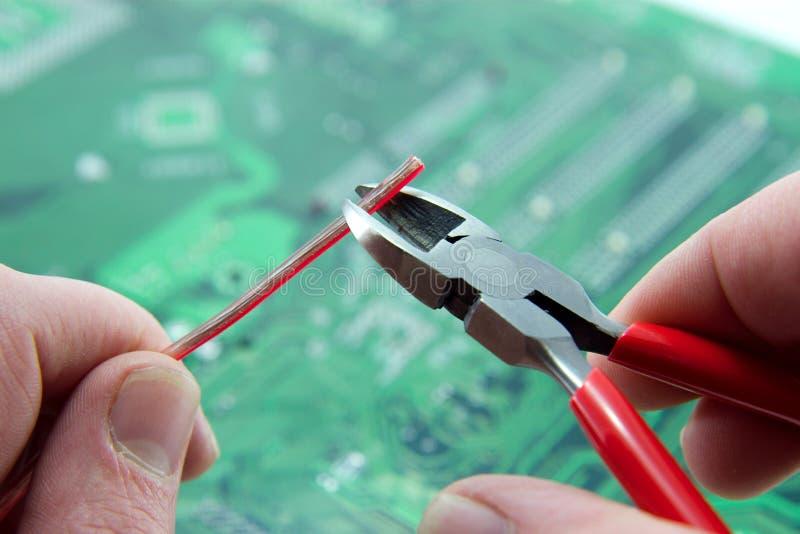 Elektronische Technicus stock fotografie