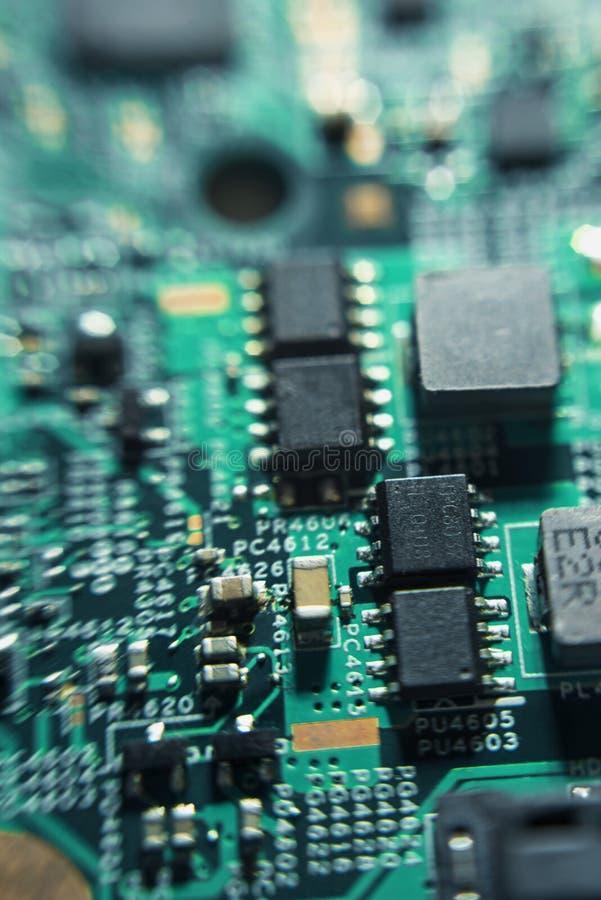 Elektronische technologieën in macro royalty-vrije stock afbeeldingen