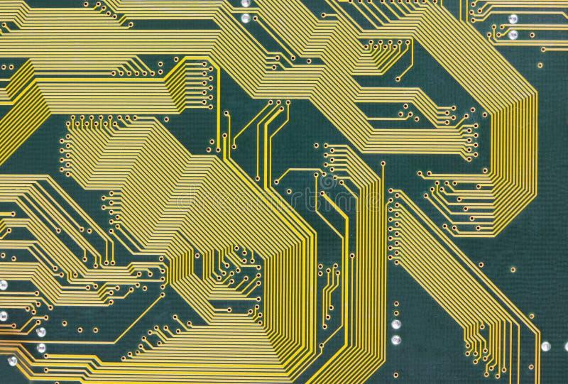 Elektronische technologie groene achtergrond van de kringsraad stock afbeelding