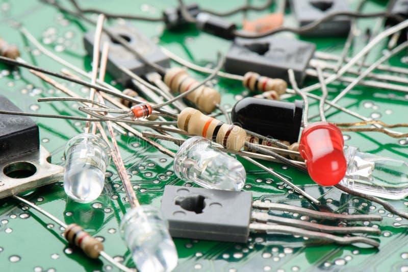 Elektronische Teile stockbilder