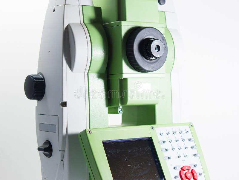 Elektronische theodoliet voor landlandmeters stock afbeeldingen