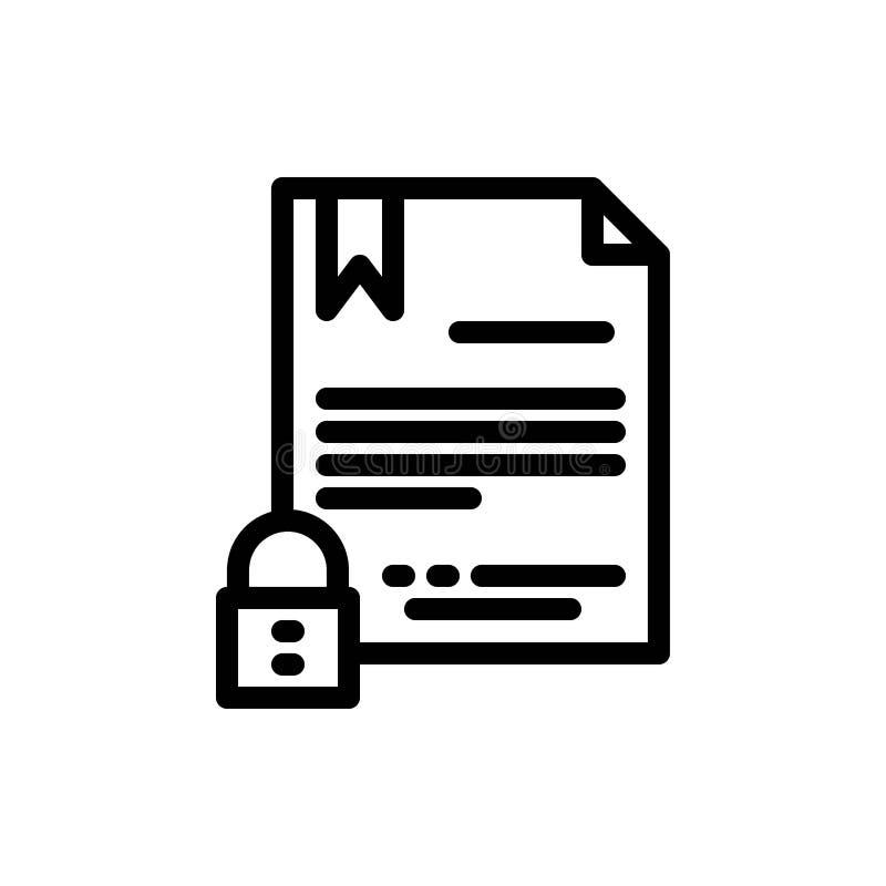 Elektronische Unterzeichnung, Vertrag, Digital, Dokument, Internet-Blau und rotes Download und Netz Widget-Karten-Schablone jetzt lizenzfreie abbildung