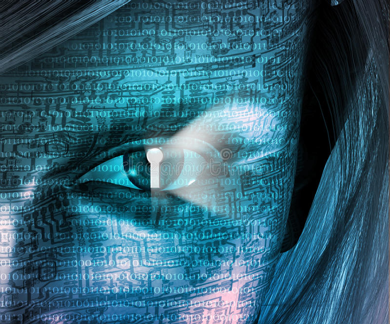Elektronische Vrouw royalty-vrije illustratie