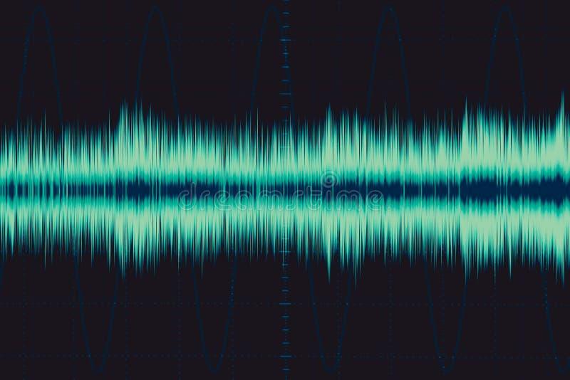 Elektronische Welle Schallfrequenzwelle stock abbildung