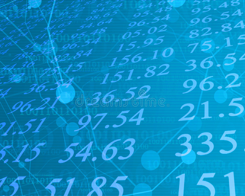Elektronische Zahlen auf lager lizenzfreie abbildung