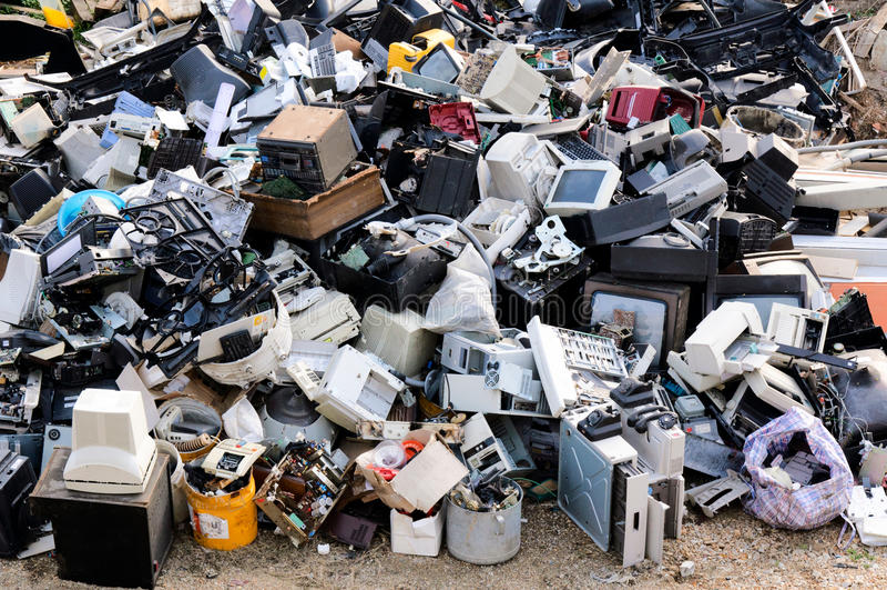 Elektronischer Abfall lizenzfreie stockfotografie