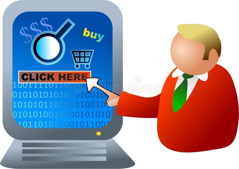 Elektronischer Geschäftsverkehr vektor abbildung