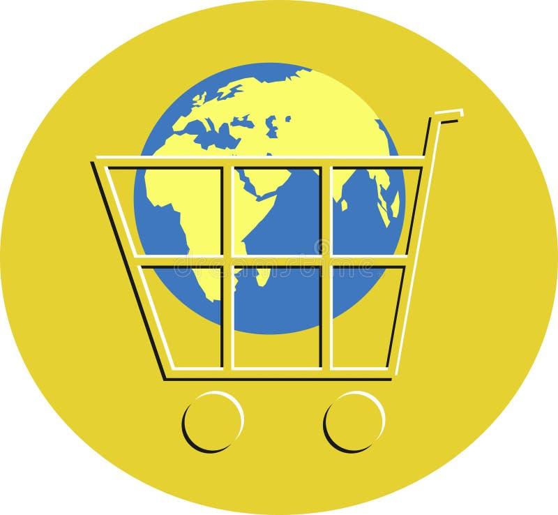 Download Elektronischer Geschäftsverkehr Vektor Abbildung - Illustration von ikonen, laufkatze: 47859