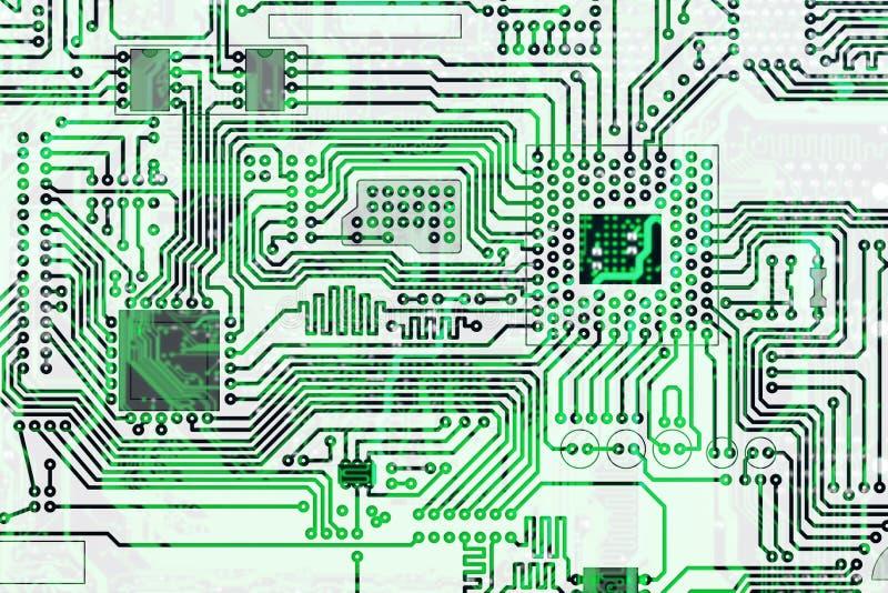 Elektronischer Hightech- Leiterplattehintergrund stock abbildung