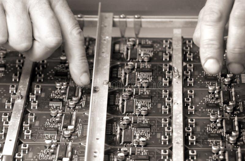 Elektronischer Kreisläuf lizenzfreie stockfotos