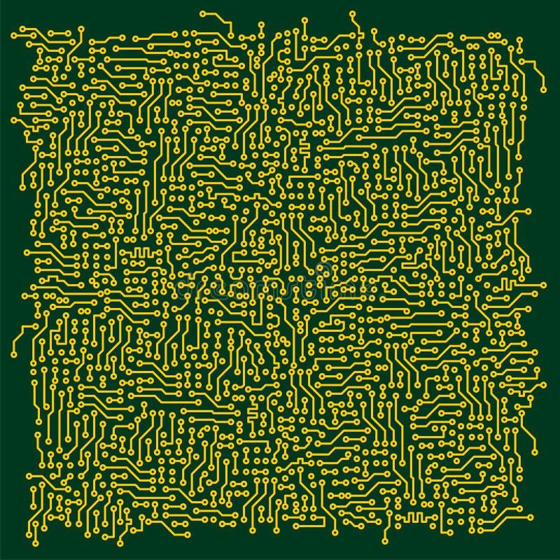 Elektronischer TechnologieLeiterplatte-vektorhintergrund vektor abbildung
