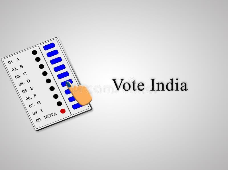 Elektronischer Wahlautomat EVM verwendete, um die Abstimmung in den indischen Wahlen abzugeben stock abbildung