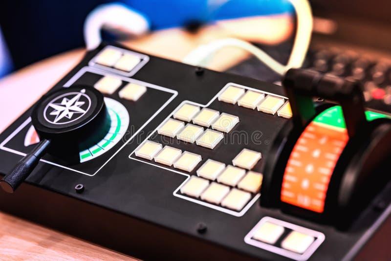 Elektronisches Basissteuerpult stockbild