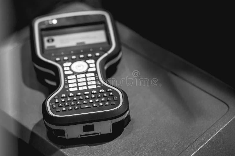 Elektronisches Basissteuerpult stockfoto