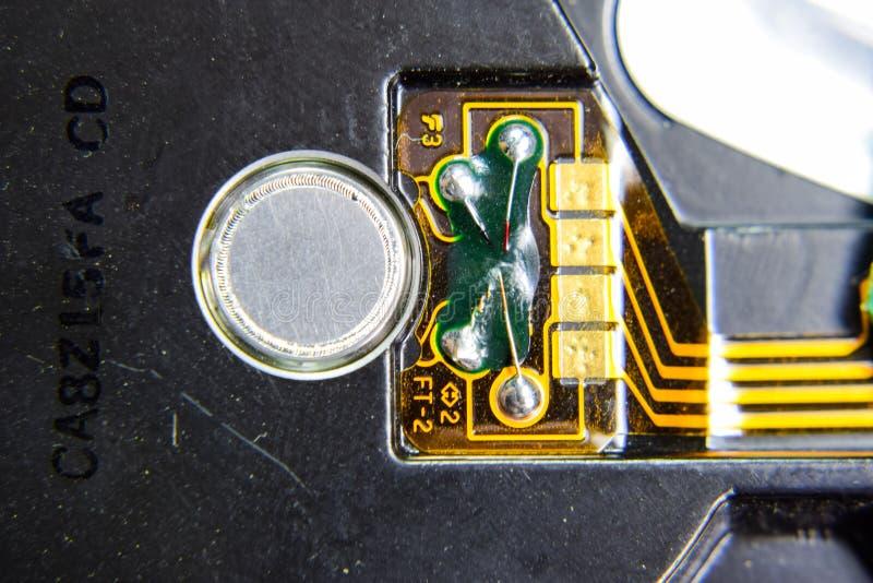 Elektronisches Brett mit elektrischen Komponenten Elektronik der Computerausrüstung stockbilder
