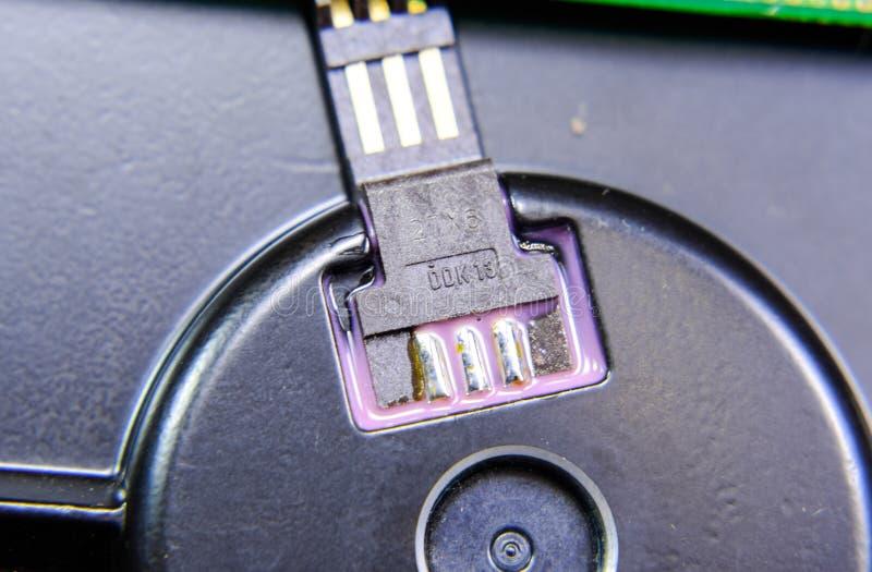 Elektronisches Brett mit elektrischen Komponenten Elektronik des Computers stockfoto