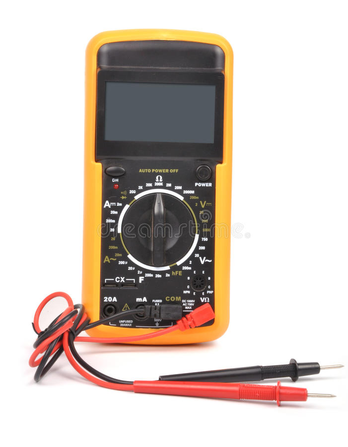 Elektronisches Multimeter lizenzfreie stockfotos