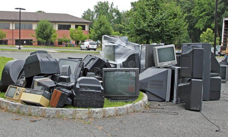 Elektronisk återanvändande dag arkivfoto