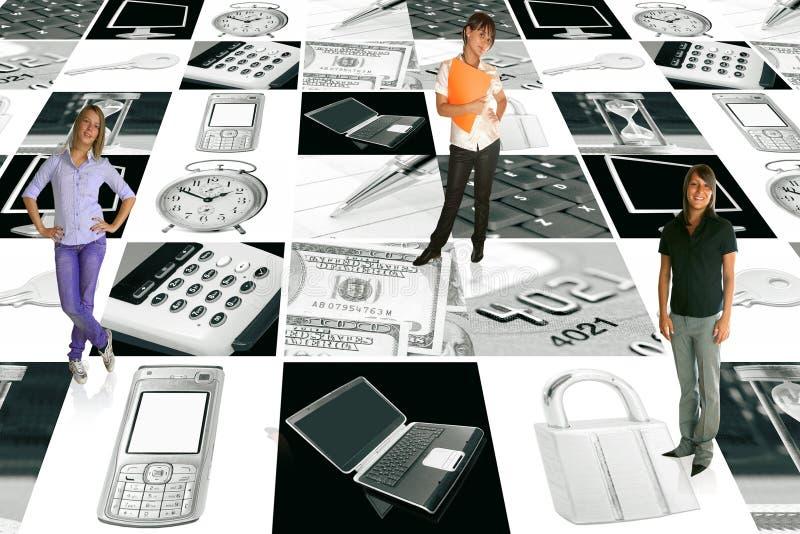 elektronisk affärsaffärskvinna royaltyfria foton