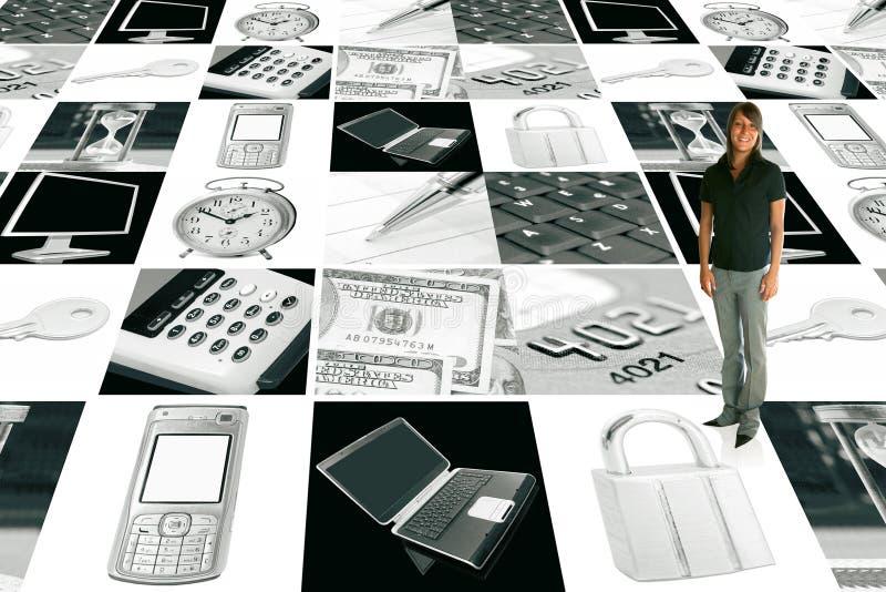 elektronisk affärsaffärskvinna royaltyfri bild