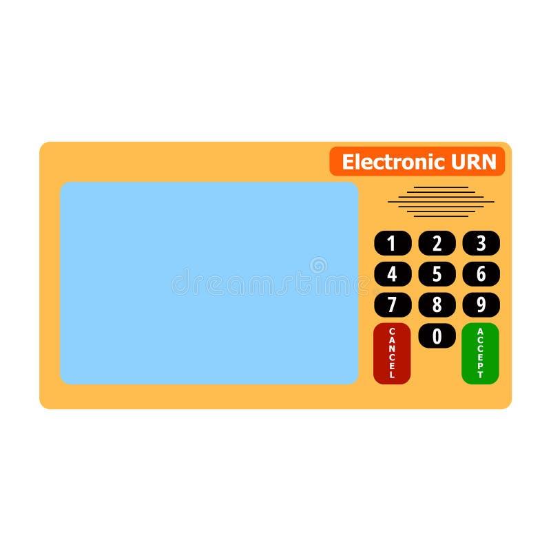Elektronisk apparat för att rösta i presidents- och parlamentsval stock illustrationer