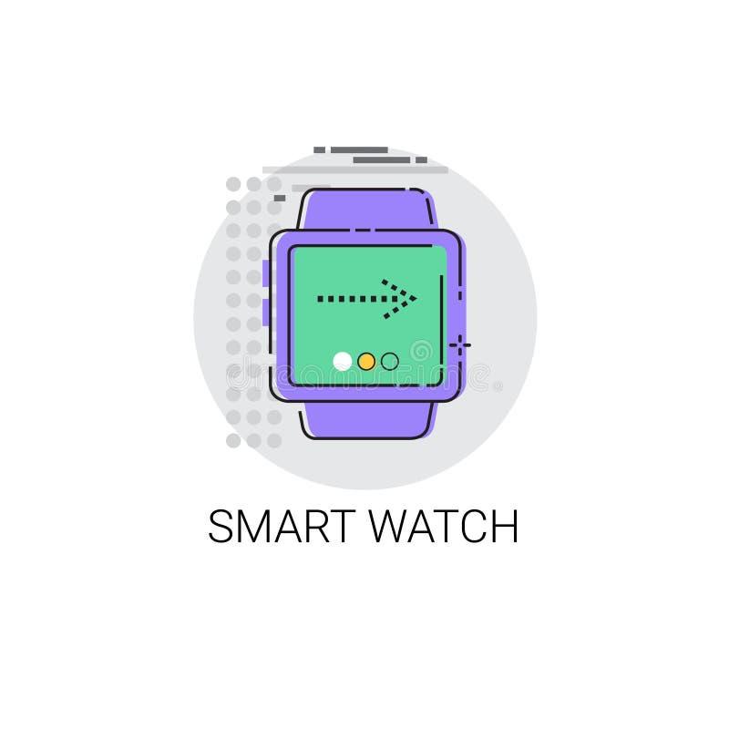 Elektronisk apparat för Wearable teknologi för TechSmart klocka stock illustrationer