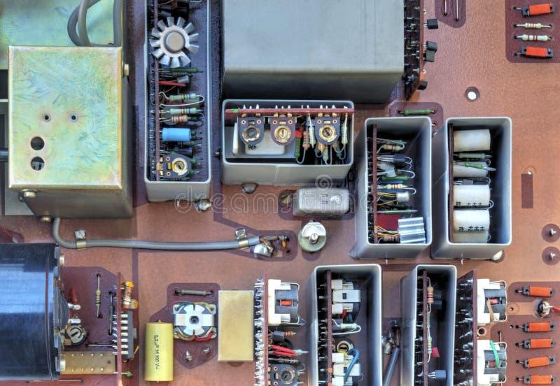 Elektronisk apparat med delar royaltyfri fotografi